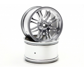 HPI3138 8 Spoke Wheel Satin Chrome/2Pc