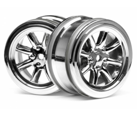 HPI Vintage 8 Spoke Wheel 26mm Shiny Chrome 0 OS