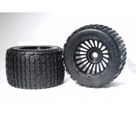 Monster Tyre - Black Wheel Assy 0 Xross Max Tyr