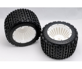 Monster Tyre - White Wheel Assy 0 Xross Max Tyr