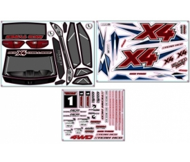 Rally X4 Decal Set
