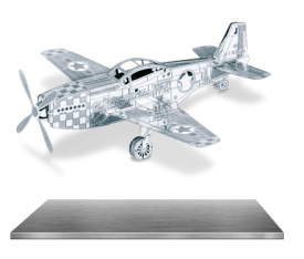Metal Earth Mustang P-51 3D Metal Puzzle